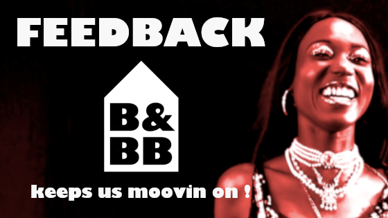 Feed back keeps our House Music moovin on